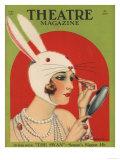Theatre Magazine  Rabbits Bunny Girls Make Up Makeup Magazine  USA  1924