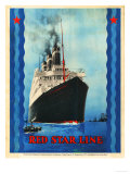 Red Star Lines  Cruise Ships  Ocean Liners  USA  1930