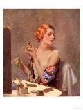 Perfume Woman Doing Her Make-Up  Budoir Putting On Perfume  UK  1930