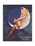 Blue Moon Silk stockings, Womens Glamour Pin-Ups Nylons Hosiery, USA, 1920 Giclée