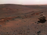 Spirit Mars Exploration Rover on the Flank of Husband Hill