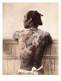 Japanese Tattooed Man  c1880