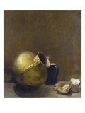 Still Life with Oysters and Brass Jug  1892