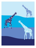 Blue Giraffes on Blue Plains