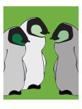 Baby Penguins in Green