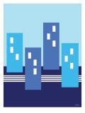 Blue Buildings