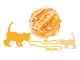Orange Ball of Yarn