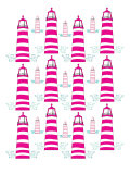 Pink Light House Pattern