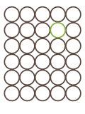 Brown Green Circles