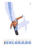 Copper Mountain  Colorado  Snowboard Stylized
