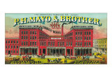 Richmond  Virginia  PH Mayo and Brother US Navy Brand Tobacco Label