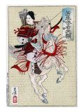 The Female Warrior Hangaku  Japanese Wood-Cut Print
