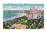 Chicago  Illinois  View of the Edgewater Beach Hotel and Recreation Grounds