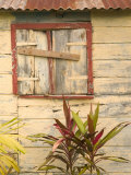 Weathered Cottage of Marie-Galante Island  Guadaloupe  Caribbean