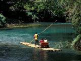 Rafting on the Martha Brae River, Jamaica, Caribbean Papier Photo par Greg Johnston