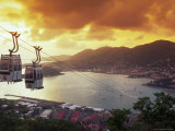Overview of Town and Harbor  Charlotte Amalie  St Thomas  Caribbean
