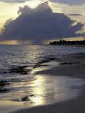 Rouge Beach on St Martin  Caribbean