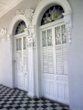 Historic District Doors with Stucco Decor and Tiled Floor  Puerto Rico