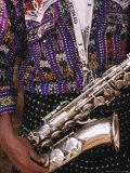 Man's Traditional Dress and Saxophone  Antigua  Guatemala