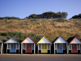 Beach Huts at Bournemouth  Dorset  England