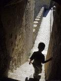 Young Boy in Tower of Castelo de Sao Jorge  Portgual