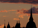 Towers of Mariahissen Along the Skyline at Sunset  Stockholm  Sweden