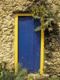 Door and Stone Wall  Parati  Brazil