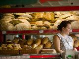 Woman in Bakery  Trogir  Croatia