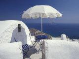 Terrace Overlooking Aegean Sea  Anafi  Cyclades Islands  Greece
