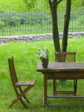 Table on Grounds of Hotel Kendov Dvorec  Spodnja Idrija  Slovenia