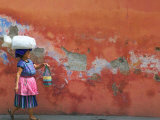 Woman Carrying Sack  Antigua  Guatemala