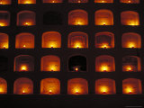 Candles Light the Graves of Niches in the Cemetary  Oaxaca  Mexico