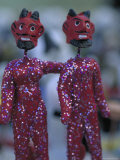 Clay Devils Exchanged Between Friends During the Day of the Dead Festivities  Oaxaca  Mexico