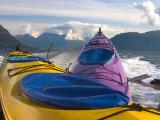 Sea Kayak Trip From Valdez Harbor to Columbia Glacier  Alaska  USA