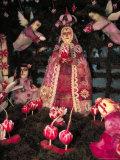Patron Saint the Virgin of Solitude  Carved Radishes at the Noche de los Rabanos Festival  Mexico