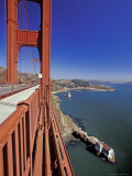 View North from Golden Gate Bridge  San Francisco  California  USA