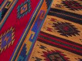 Colorful Hand-Woven Carpet  Oaxaca  Mexico
