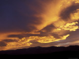 Clouds at Sunset from Artists Drive  Death Valley National Park  California  USA