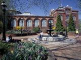Red Seneca Sandstone of Smithsonian Institute Building  Washington DC  USA