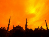 Sunset on the Blue Mosque  Istanbul  Turkey