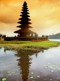 Religious Ulur Danu Temple in Lake Bratan  Bali  Indonesia