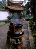 Temple and Incense Burning  Bamboo Village  Kunming  Yunnan Province  China