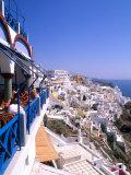 View from Cliffs  Santorini  Greece