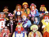 Group Portrait of Clowns
