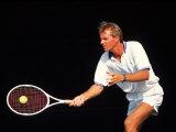 Close-up of Man Playing Tennis