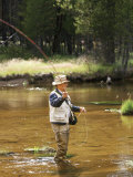Retired Man Fly-Fishing