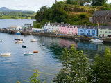 Port and Sailboats in Village of Portree  Isle of Skye  Western Highlands  Scotland