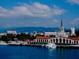 Black Sea Port Located at Base of the Caucasus Mountain  Port of Sochi  Sochi  Russia
