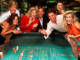 Couples Enjoying Themselves in a Casino