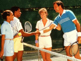 Couples Playing Tennis Together